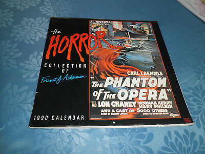 The Horror Collection of Forrest J Ackerman 1990 Calendar