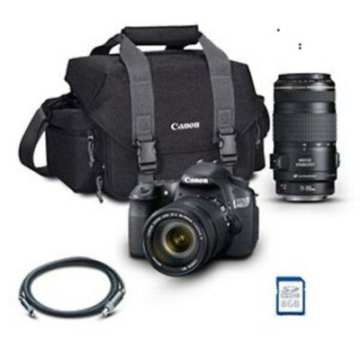Canon EOS 60D DSLR Camera 18-135mm, 70-300mm IS Lens 8GB Memory, Bag