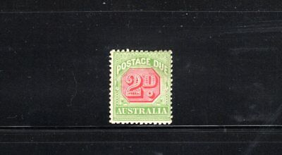 Australia 1910 2d Postage Due Die II wmk Crown over A SG 65a MH