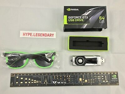 "NVIDIA Merchandise - PBC Ruler + Shades + 64GB USB 3.0 ""GeForce GTX"" Drive"