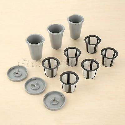 3 Set Coffee Filters With Extra 3Pcs Mesh Filter Baskets For Keurig Home Brewers