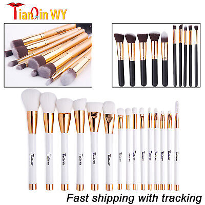 10/15pcs Professional Makeup Brushes Set Powder Cosmetic Tool Natural Hair Brush