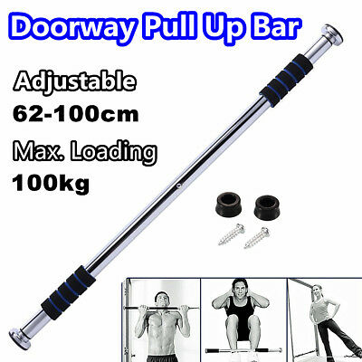 Home Gym Doorway Chin Up Bar Portable Push Pull Up Exerceise Workout Fitness ABS