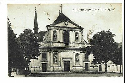 CPA - Carte postale -FRANCE - Richelieu - Son Eglise - 1930 -S185