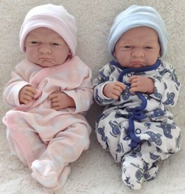 "COLLECTIBLE -LOT 2 Berenguer La Newborn Baby Twin Dolls - First Day - 35cm (14"")"