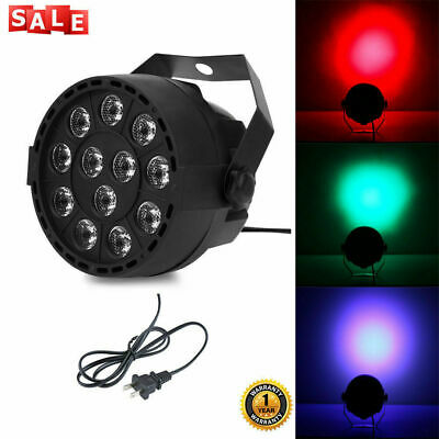 12 LEDs RGBW Color Mixing Par Lamp Voice Activated Light for Stage Party