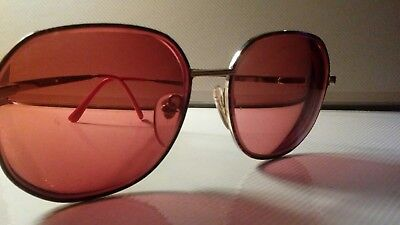 Women' MAYRA Red Marble High End Prescription Sunglass frames 57-17-140 preowned