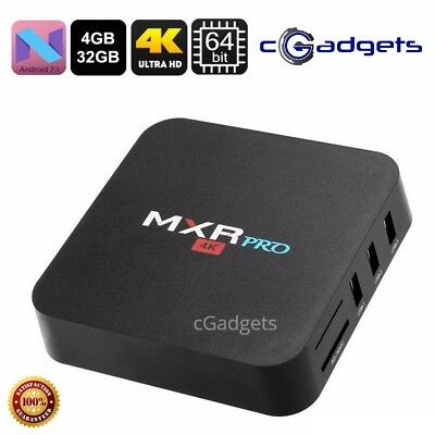 MXR PRO 4GB RAM+32GB Storage - Android 7.1 - TV Box Streamer - Fully Setup