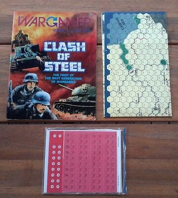 Clash of Steel WW2 The Wargamer Magazine & unpunched boardgame