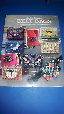 American School of Needlework Plastic Canvas Belt Bags Pamphlet 3107