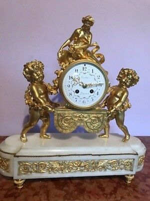 Antique French Table Clock/pendulum By Samuel Marti - Free Worlwide Shipping