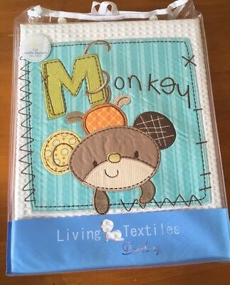 Living Textiles Cot Waffle Blanket Monkey Design