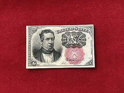 FR-1266 1874 Series Fifth Issue Fractional Currency 10c Ten Cents *Crisp Unc* #2