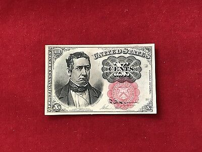 FR-1266 1874 Series Fifth Issue Fractional Currency 10c Ten Cents *Crisp Unc* #1
