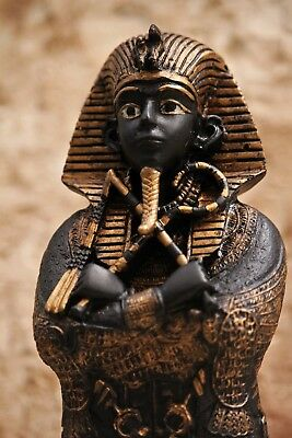 Rare Ancient Sculpture of Egyptian King Tutankhamun with Hieroglyph Engravements
