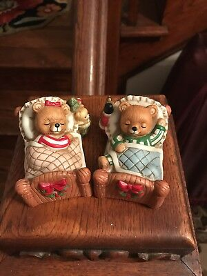 """Home interior bear figurines """"Visions of Sugar Plums """""""