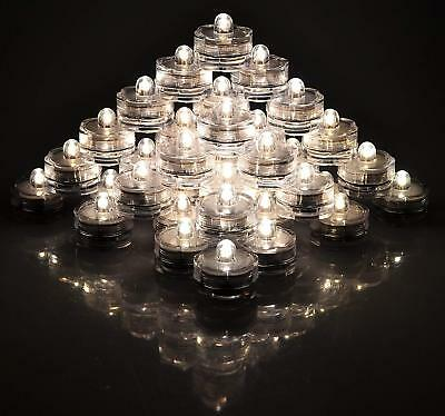 LED Tea light Submersible Waterproof Candles Battery Christmas Party Xmas Decor