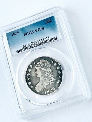 1829 Capped Bust U.S. Half Dollar 925 Silver Coin