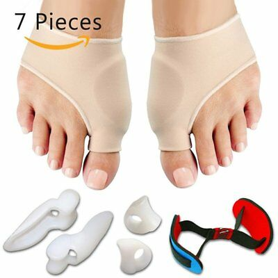 7PCS CO_Straightener Bunion Hallux Valgus Corrector Toe Pain Relief Splint OL