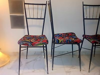 G O R G E O U S  Mid Century Modern Italian Set of Four Dining Chairs 50s 60s