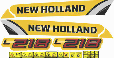 NEW HOLLAND L218 Skid Steer Loader Decal / Adhesive / Sticker ... on