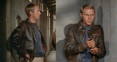 """BELSTAFF """"The Great Escape"""" STEVE McQUEEN jacket RAF leather size L ICONS"""