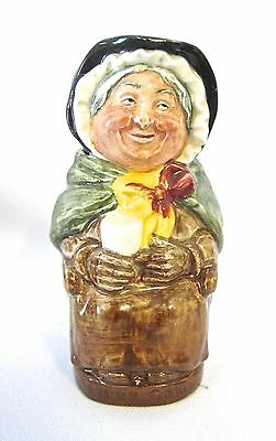 "Rare Royal Doulton No name No number Mrs. Sairey Gamp Toby Jug 4 1/8"" H(#538)"
