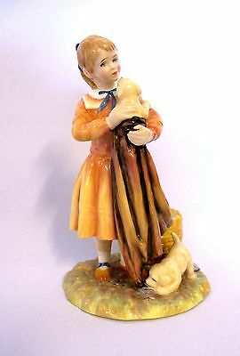 "Royal Doulton HN 3371 #333 - Age of Innocence_ Puppy Love 1990 - 7 2/8"" H(#477)"