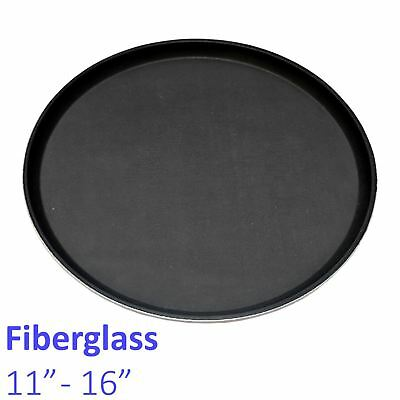 Non-Slip Round Fibreglass Tray Bar Pub Café Waiter Serving Drinks Food Platter