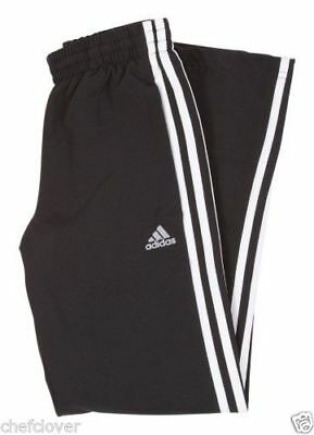 ADIDAS ESS 3S Woven Pant Open Hem Youth ClimaLite Trousers Pants Age 15 16 Years