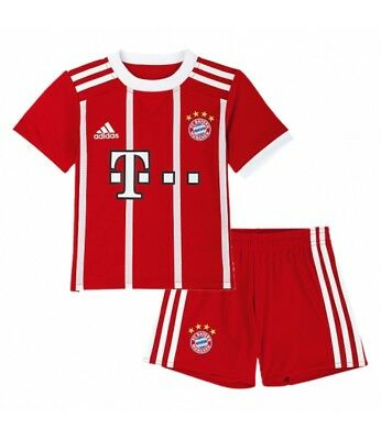 Bayern Munich FC HOME Junior Kids Kits Boys Shirt Short Jersey 17-18 LEWANDOWSKI