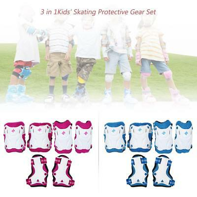 6PCS/Set 3 in 1 Kids' Skating Protective Gear Set Knee and Elbow Pads L7M9