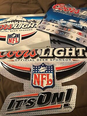 Coors Light NFL Signs