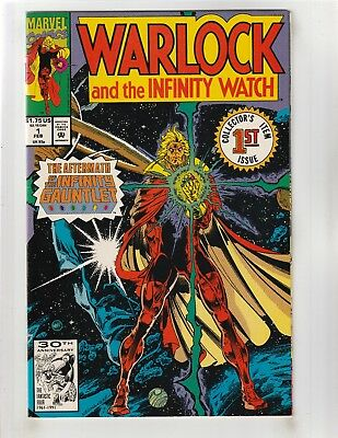 Warlock and the Infinity Watch #1 VF/NM 9.0 Marvel Infinity Gauntlet Aftermath