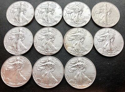 Lot of 11 - 2011 Silver American Eagle 1 oz .999 Silver Coins (9080-2)