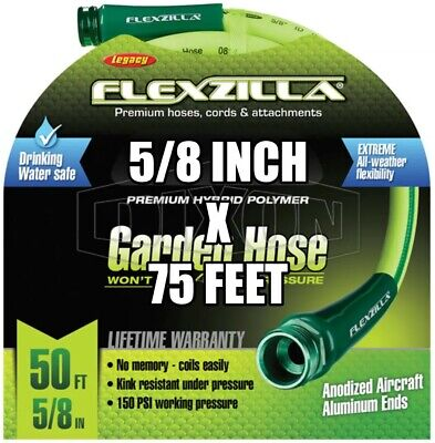"DIXON PWH25 5/8"" x 25' Perfect Garden Hose 100 psi with M & F GHT"