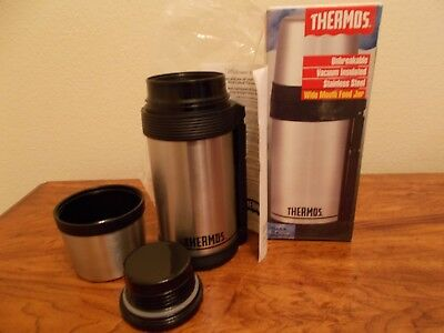 THERMOS 24 oz WIDE MOUTH FOOD or BEVERAGE STAINLESS INSULATED BOTTLE Hot/Cold