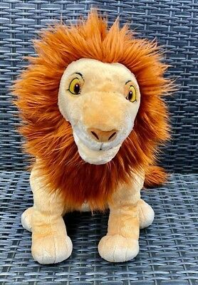 "Rare Authentic DISNEY STORE Large 18"" ADULT SIMBA The Lion King Soft Plush Toy"