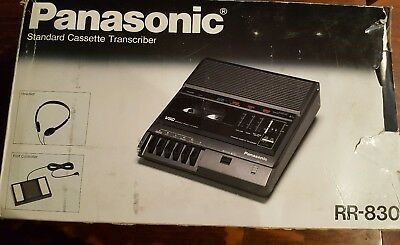 Panasonic Standard Cassette Transcriber with Foot Pedal RR-830