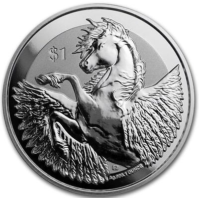 2018 BVI 1 oz Silver Pegasus Reverse Frosted Proof-like BU | In Air-tite holders