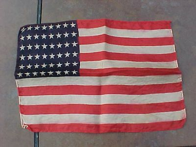 Original Wwii Small Us Flag From Veterans Estate
