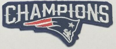 New England Patriots~Champions~Iron On Logo~ Embroidered Patch~Free Shipping~