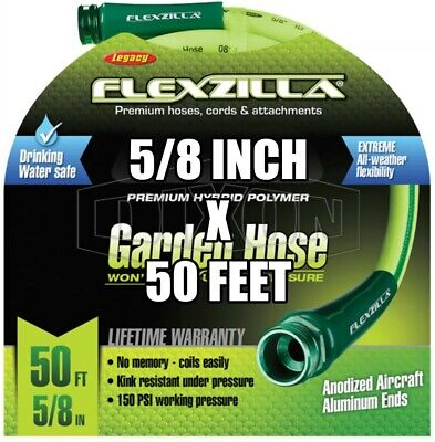 "DIXON PWH50 5/8"" x 50' Perfect Garden Hose 100 psi with M & F GHT"