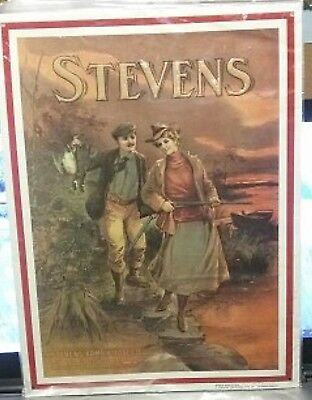 10 1/2 Inch X 14 Inch J. STEVENS ARMS & TOOL CO. Metal Sign