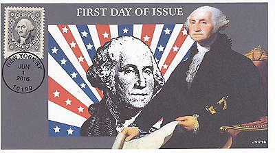 Jvc Cachets-2016 Classics Forever Issue First Day Cover Fdc- George Washington 1