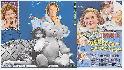 Jvc Cachets-2016 Shirley Temple Issue First Day Cover Fdc Movies Actor Star #1
