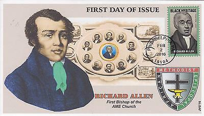 Jvc Cachets-2016 Richard Allen Issue First Day Cover Fdc Style #3 Black Heritage