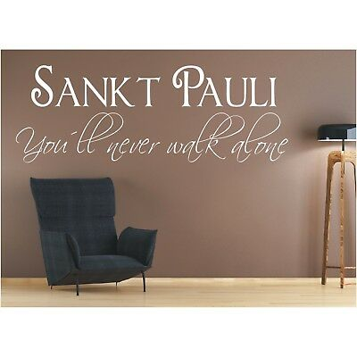 Wandtattoo Sankt Pauli You Ll Never Walk Alone St Wandaufkleber Sticker 1 Eur 12 90 Picclick De