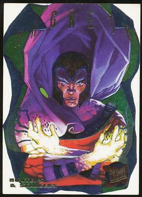 1995 X-Men Ultra Hunters and Stalkers Rainbow Trading Card #8 Magneto
