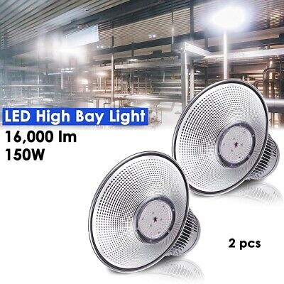 "DELight 2Pcs 150W 18"" LED High Bay Light 16000lm Bright Lamp Factory Industry"